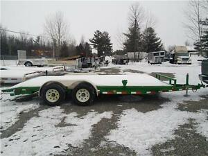 "PJ 7 x 18 Car Hauler 5"" Channel Powder Coated Green Painted Stee"