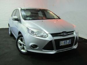 2015 Ford Focus LW MkII MY14 Trend PwrShift Silver 6 Speed Sports Automatic Dual Clutch Hatchback Derwent Park Glenorchy Area Preview