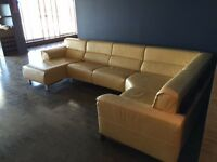 MARTIN DANIELS LEATHER COUCH - SECTIONAL