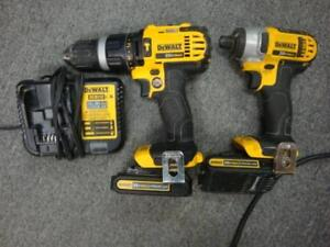 Dewalt 20V MAX Li-Ion Cordless Hammer Drill/Impact Driver Combo Kit (2-Tool) with Batteries Charger & Bag