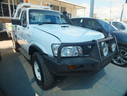 2008 Nissan Patrol GU MY08 DX (4x4) White 5 Speed Manual Cab Chassis Bohle Townsville City Preview