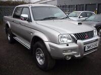 MITSUBISHI L200 2.5 TD 4WD LWB WARRIOR DCB 1d 114 BHP Top spec War (silver) 2004