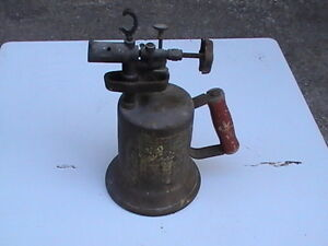 Vintage Blow Torch 1921, All Wood Plane, Heavy Duty Brass Hinges