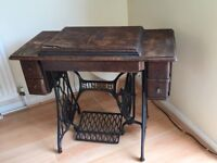Singer Treadle Sewing machine ( dated 1907)with receipt
