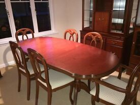 Cherry Dining Table & 6 Chairs for sale (John E Coyle)