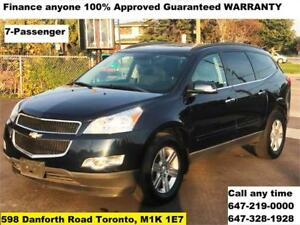 2012 Chevrolet Traverse LT Finance anyone 100% Approved WARRANTY