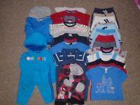 Bundle boys clothes 30 items 12-18 months-post it
