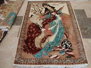 LOVE UMRE KHAYAM LOVE KING HAND KNOTTED RUG WOOL SILK CARPET