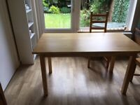 Dining table: IKEA Norden