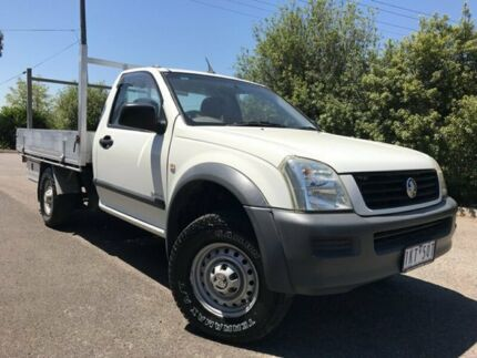 2003 Holden Rodeo TFR9 MY02 LX White 5 Speed Manual Cab Chassis