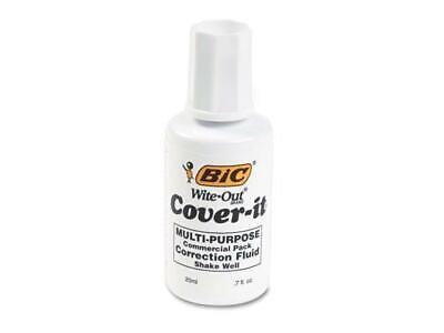 Bic Cover-it White Out Correction Fluid Multi Purpose Liquid Paper .7fl 20ml