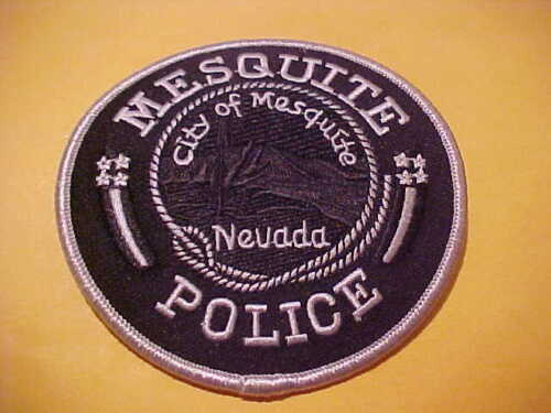 MESQUITE NEVADA POLICE PATCH SHOULDER SIZE UNUSED 4 X 4