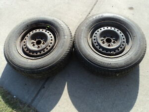 2 Motomaster Tires with Rims for 1990-2000 Dodge Caravan