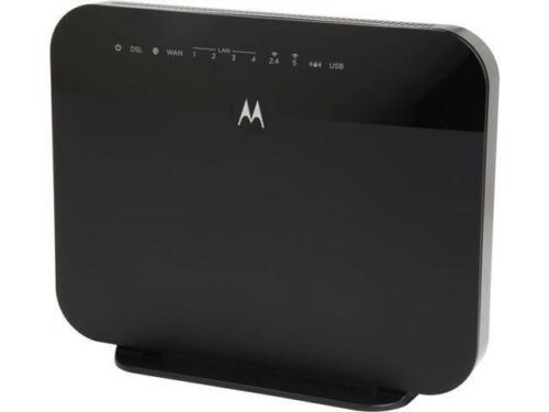 MOTOROLA VDSL2/ADSL2+ Modem + WiFi AC1600 Gigabit Router, Mo