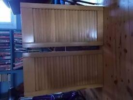 Pair of small wooden cupboard doors