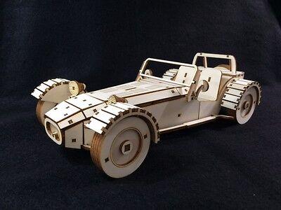 Laser Cut Wooden Lotus 7 / Caterham / Kit Car / 3D Model/Puzzle Kit