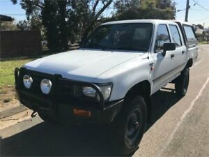 1991 Toyota Hilux LN106R (4x4) White 5 Speed Manual 4x4 Dual Cab Pick-up Chester Hill Bankstown Area Preview