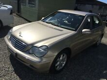 2002 Mercedes-Benz C200 W203 Kompressor Classic Champagne 5 Speed Automatic Sedan Jewells Lake Macquarie Area Preview