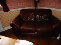 LEATHER SOFAS 2 & 3 SEATER
