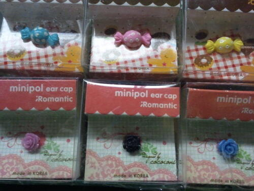 Dust Plug Ear Cap Phone Charm 6 Pc Assorted Flowers & Candy 3.5mm + FREE GIFT?d
