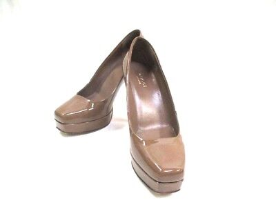 Auth GUCCI Dark Brown Patent Leather Pumps #36 (US #5.5)