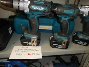 Makita 2 Piece Combo Kit with 2 batteries and Charger ON SALE