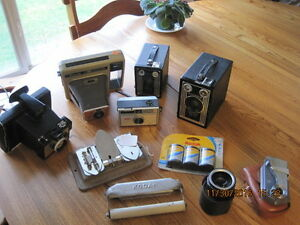 Vintage Cameras, Photographic & Dark Room Items