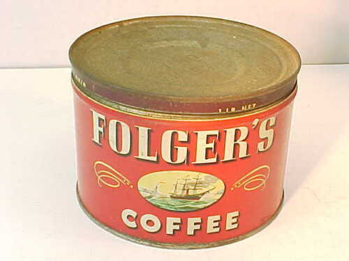 Vintage 1946 Mountain Grown FOLGER