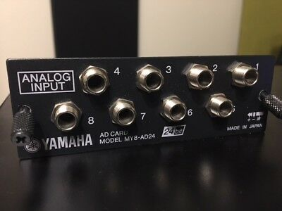Yamaha MY8AD24 Analog Input Card: AW4416 02R96 01V96 LS9  DM2000 AW2816, used for sale  Round Rock