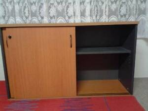 Office Home Cupboard Wood Solid Sliding Doors Lockable $38 Albion Brisbane North East Preview