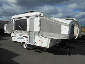 WOW! Palomino 10' Tent Trailer with Front Storage and Roof Rack!