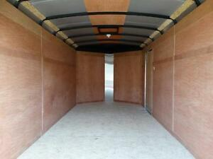 7x14 Black Enclosed Cargo Trailer with Ramp Kitchener / Waterloo Kitchener Area image 8