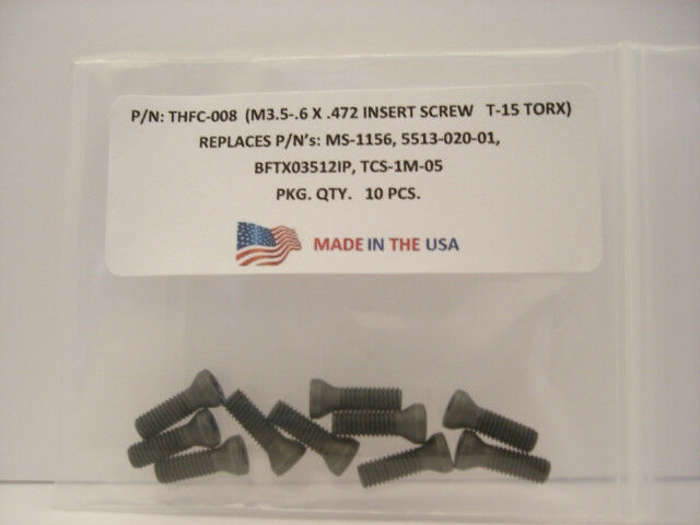 10 Pieces THFC-008-MS-1156 Insert Screw
