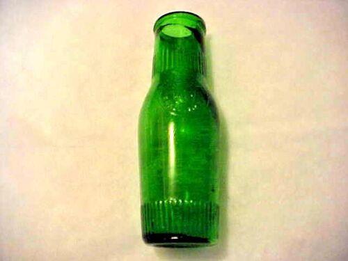 RARE Antique Emerald Green Glass Olive Bottle Seville Packing Co New York 1890s