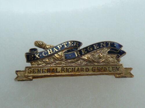 DAR Ex-Regent Pin-General Richard Gridley-Gold Filled