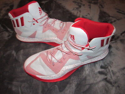 reputable site a3180 56ee8 NEW Adidas Mens SM Crazy Bounce Basketball Shoes NBA B39303 White Red Size  US 20