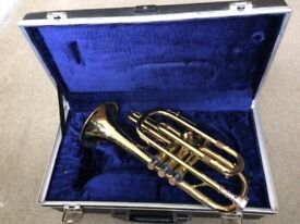 B&H 400 Cornet with case - perfect for trumpet beginner
