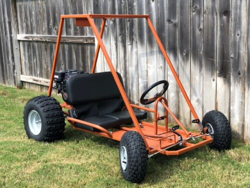 New Custom Built Go-Kart For Sale: Burnt Orange, 6 1/2 HP, Two Seater