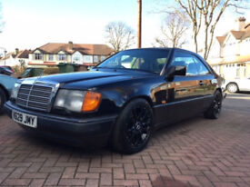 MERCEDES 320CE CLASSIC PILLARLESS COUPE, LEATHER AND 5 SPEED GEARBOX
