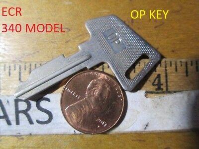 1 Sanyo Model Ecr 340 Cash Register Op Metal Cut Vintage Key - Used