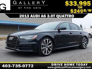 2013 Audi A6 3.0T QUATTRO $249 bi-weekly APPLY NOW DRIVE NOW