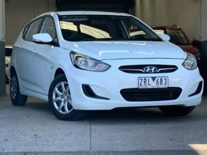 2013 Hyundai Accent White Sports Automatic Hatchback