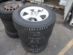 FACTORY AUDI RIMS AND 2356517 MICHELIN SNOW TIRES