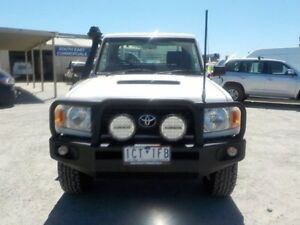 2008 Toyota Landcruiser White Manual Cab Chassis
