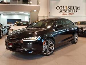 2016 Chrysler 200 S-SPORT-LEATHER-PANO ROOF-ONLY 53KM
