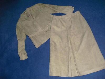 OSTÜM Jacke Blazer Rock gef. sand Waschbar. Gr. 38 M sehrg (Erwachsene Waschbär Kostüm)