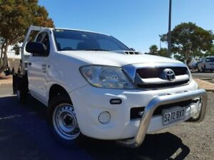 2011 Toyota Hilux KUN16R MY10 SR 4x2 White 5 Speed Manual Cab Chassis Gepps Cross Port Adelaide Area Preview