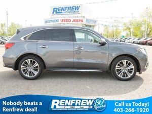 2017 Acura MDX SH-AWD Elite, Sunroof, Rear Widescreen DVD, Nav,