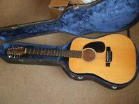 12 Stringed Takamine guitar with internal pickups