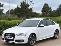 AUDI A4 3.0 S4 QUATTRO BLACK EDITION 4d AUTO 329 BHP (white) 2014